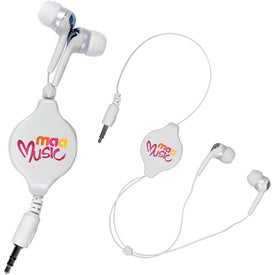 Retractable Ear Buds (Digitally Printed)