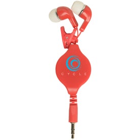 Retractable Earbuds with Clip with Your Logo