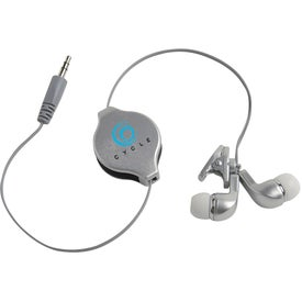 Company Retractable Earbuds with Clip