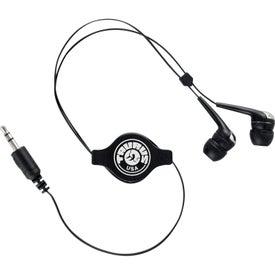 Logo Retractable Hi-Fi Earbuds