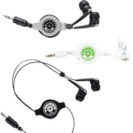 Branded Retractable Hi-Fi Earbuds