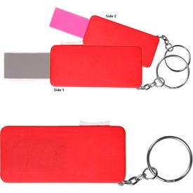 Branded Retractable Nail File Keychain