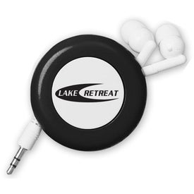 Logo Retractable Push Button Ear Buds