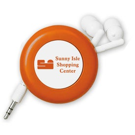 Promotional Retractable Push Button Ear Buds