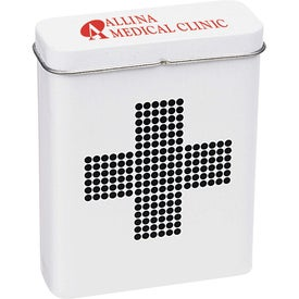 Retro First Aid Tin Imprinted with Your Logo