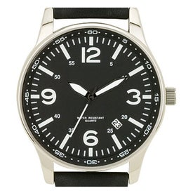 Polished Silver Retro Styles Unisex Watch for Your Company