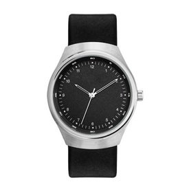 Imprinted Retro Styles Unisex Watch with Leather Strap