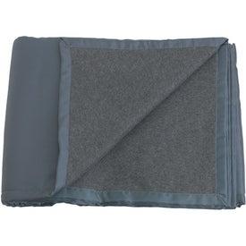 Monogrammed Reversible Fleece / Nylon Blanket with Carry Case
