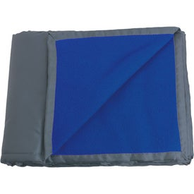 Reversible Fleece / Nylon Blanket with Carry Case for Promotion