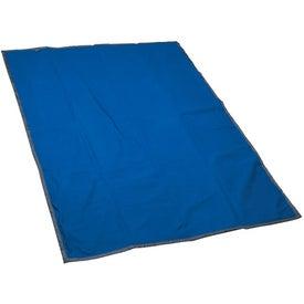 Imprinted Reversible Fleece / Nylon Blanket with Carry Case