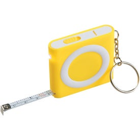 Branded Revolution Tape Measure With Light