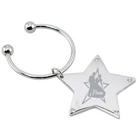 Rhinestone Star Keytag
