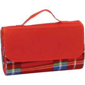Monogrammed Roll-Up Picnic Blanket