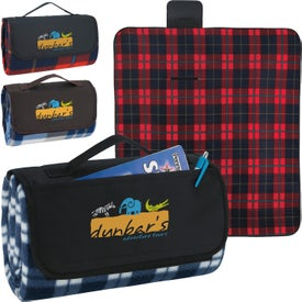 Imprinted Roll-Up Picnic Blanket