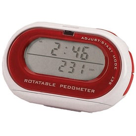 Rotatable Pedometer/Clock for Promotion