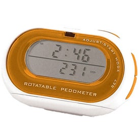 Rotatable Pedometer/Clock for Your Organization