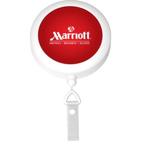 Round Badge Reel with Your Slogan