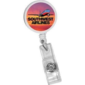 Round Badge Holder with Alligator Clip for Marketing