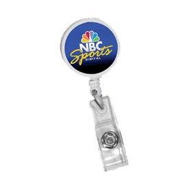 Round Badge Holder with Slide-on Clip