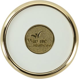 Company Round Brass Coaster Weight Coasters
