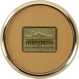 Round Brass Coaster Weight Coasters Printed with Your Logo