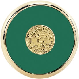 Round Brass Coaster Weight Coasters for Your Church