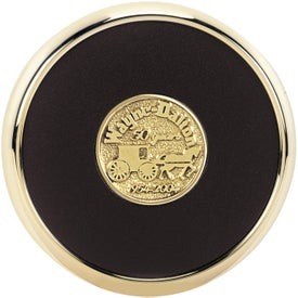 Round Brass Coaster Weight Coasters Branded with Your Logo