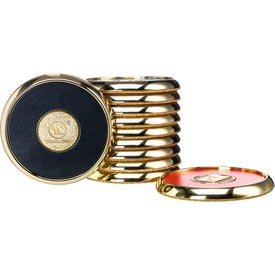 Round Brass Coaster Weight Coasters (0.375