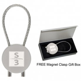 Promotional Round Cable Keytag