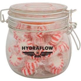 Logo Round Clasp Jar