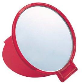 Monogrammed Round Compact Mirror