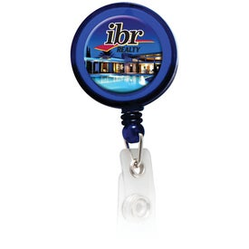 Round Domed Retractable Badge Holders with Slip on Clip