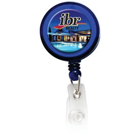Round Domed Retractable Badge Holder With Alligator Clip