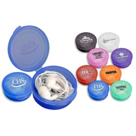 Round Ear Bud Case for Your Organization
