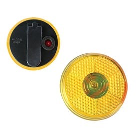 Round Flashing Button Printed with Your Logo