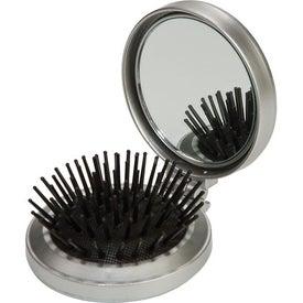 Personalized Round Hairbrush Sew Kit Mirror