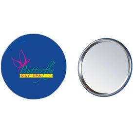 Monogrammed Round Hand Mirror