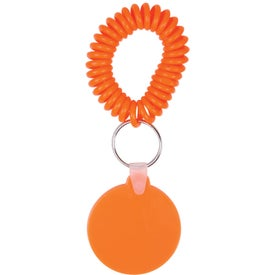 Round Key Fob with Coil for your School