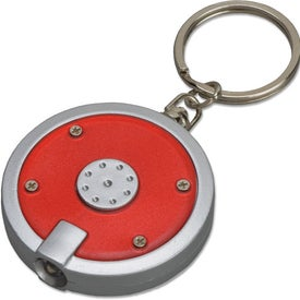 Round Key Tag Light Printed with Your Logo
