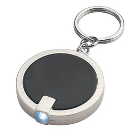 Round LED Key Chain Printed with Your Logo