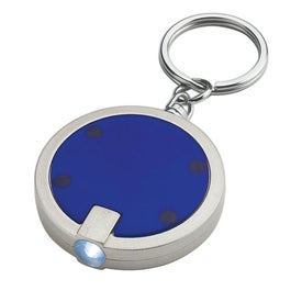 Promotional Round LED Key Chain