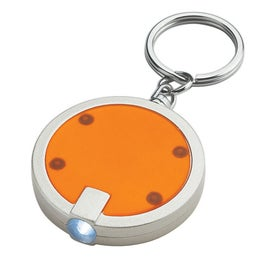 Personalized Round LED Key Chain