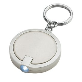 Branded Round LED Key Chain