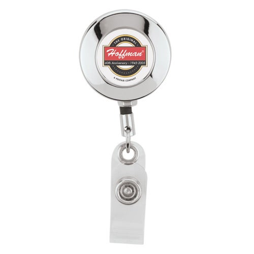 Round Metal Badge Holder