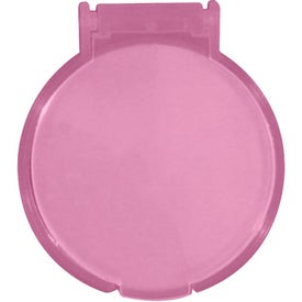 Round Compact Flip Mirror Branded with Your Logo