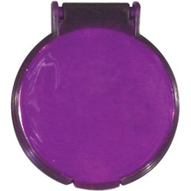 Round Compact Flip Mirror with Your Slogan