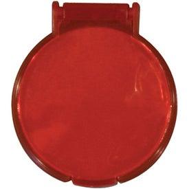 Monogrammed Round Compact Flip Mirror
