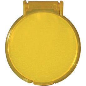 Round Compact Flip Mirror for Advertising