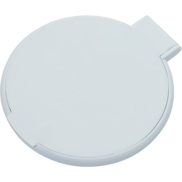 Custom compact round mirror trade show giveaways ea for Extra large round mirror