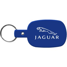 Round Rectangle Key Tag Printed with Your Logo